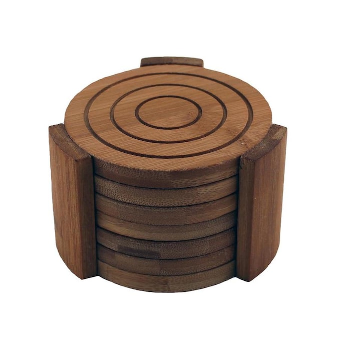 Berghoff Bamboo 7pc Coaster Set In The Serveware Department At Lowes Com
