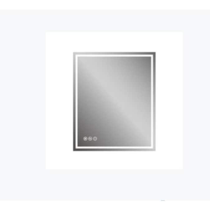 Casainc Frameless Led Bathroom Mirror 30 In Lighted Led Fog Free Silver Rectangular Frameless Bathroom Mirror In The Bathroom Mirrors Department At Lowes Com