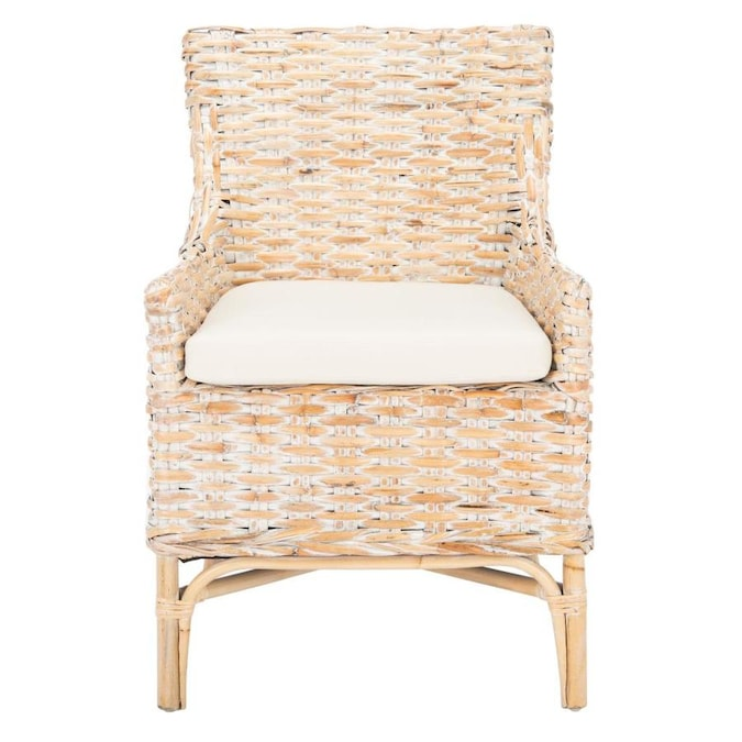 Safavieh Set Of 2 Sanibel Coastal Honey Accent Chair In The Chairs Department At Lowes Com