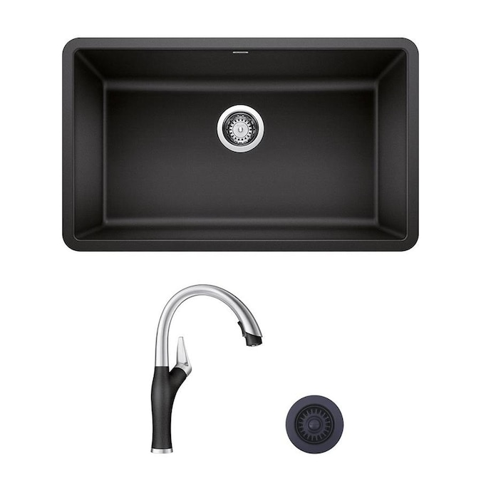 Blanco Precis Artona Undermount 30 In X 18 In Anthracite Single Bowl Corner Install Kitchen Sink All In One Kit In The Kitchen Sinks Department At Lowes Com