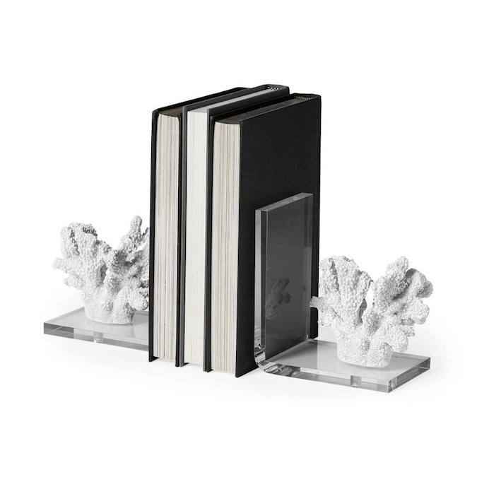 Mercana 5 9055 In White Coastal Coral Bookends Tabletop Decoration In The Tabletop Decorations Department At Lowes Com