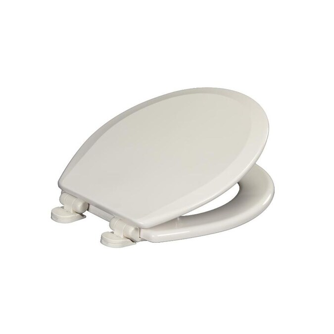Centoco Centoco Round Plastic Toilet Seat Featuring Safety Close In White With Hardware For Traditional And Concealed Trap Bowls In The Toilet Seats Department At Lowes Com