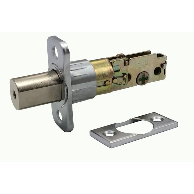 Design House Satin Nickel 2 Way Replacement Deadbolt Latch In The Door Latch Bolts Department At Lowes Com