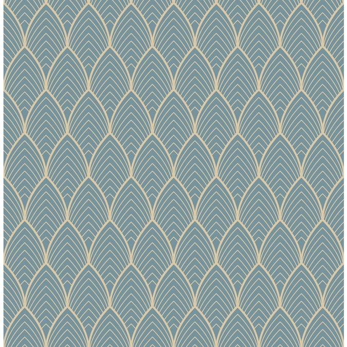 Graham Brown Kabuki 56 Sq Ft Blue Vinyl Textured Geometric Unpasted Wallpaper In The Wallpaper Department At Lowes Com
