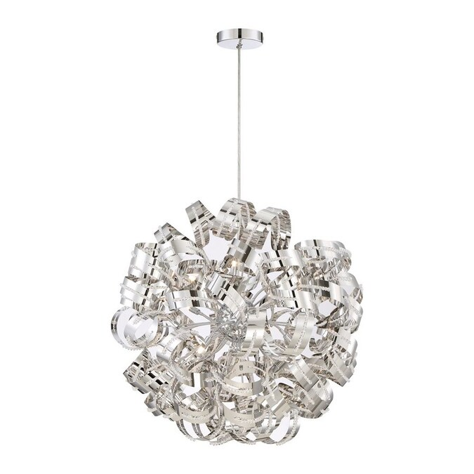 Quoizel Ribbons Brushed Nickel Modern Contemporary Clear Glass Globe Pendant Light In The Pendant Lighting Department At Lowes Com