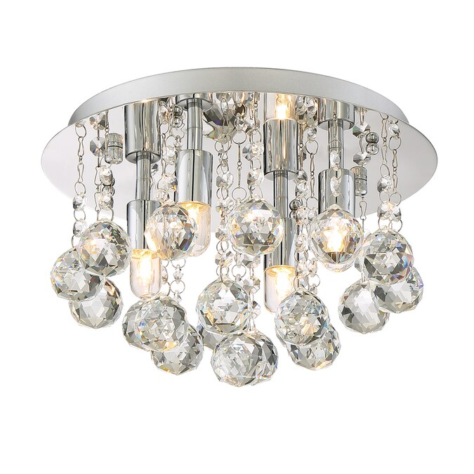 Style Selections 11 75 In Polished Chrome Modern Contemporary Flush Mount Light In The Flush Mount Lighting Department At Lowes Com