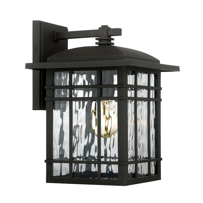 Quoizel Canyon 12 75 In H Matte Black Medium Base E 26 Outdoor Wall Light In The Outdoor Wall Lights Department At Lowes Com
