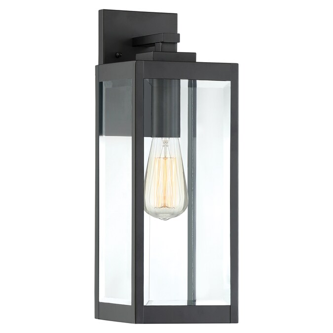 Quoizel Westover 14 25 In H Earth Black Medium Base E 26 Outdoor Wall Light In The Outdoor Wall Lights Department At Lowes Com