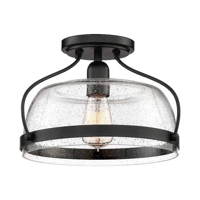 Quoizel Soho 10 62 In Bronze Casual Transitional Semi Flush Mount Light In The Flush Mount Lighting Department At Lowes Com