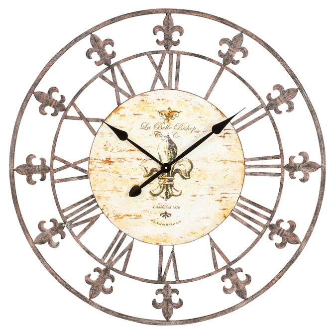 Aspire Home Accents Analog Round Wall Clock In The Clocks Department At Lowes Com