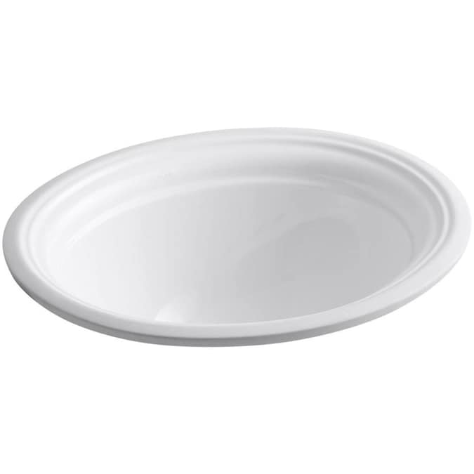 Kohler Devonshire White Undermount Oval Bathroom Sink With Overflow Drain 20 5 In X 16 In In The Bathroom Sinks Department At Lowes Com