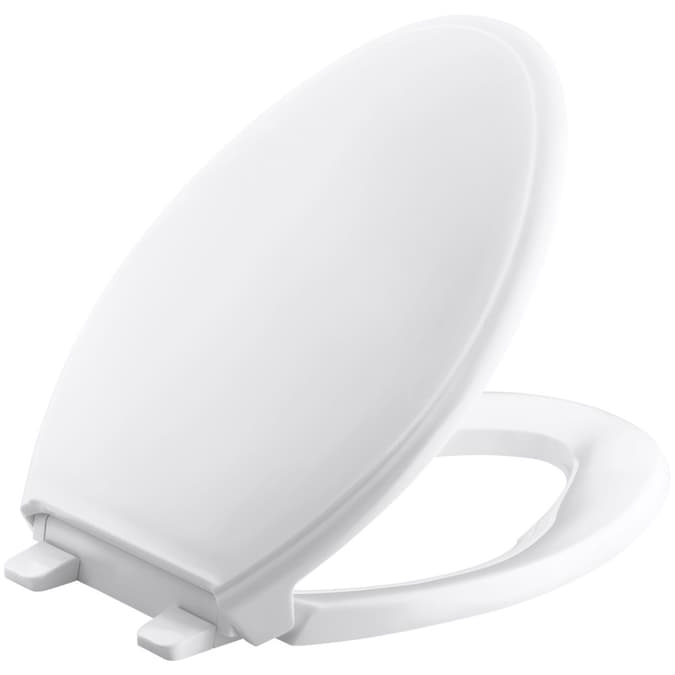 Kohler Bancroft White Elongated Toilet Seat In The Toilet Seats Department At Lowes Com