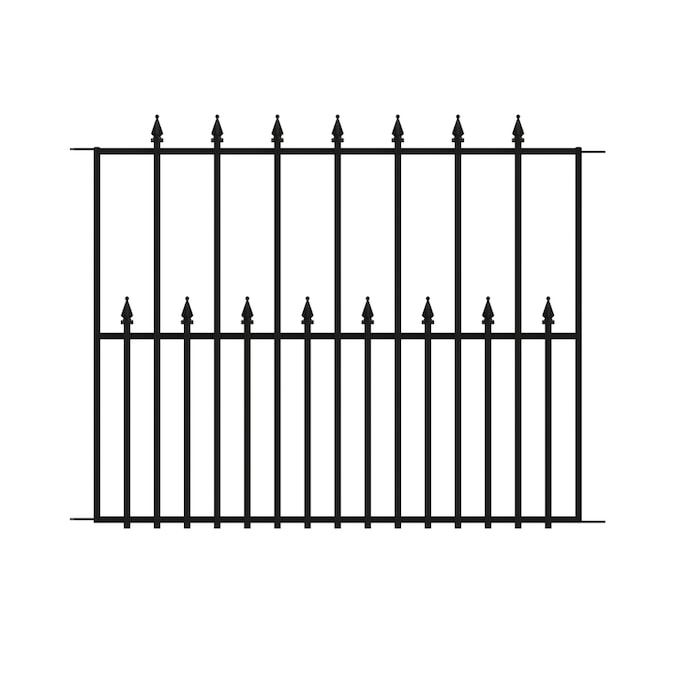 No Dig Empire Empire 2 42 Ft H X 3 15 Ft W Black Steel Pressed Point Decorative Fence Panel In The Metal Fence Panels Department At Lowes Com