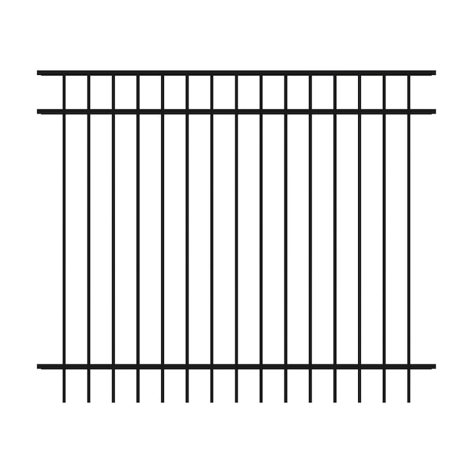 Ironcraft Berkshire Berkshire 5 Ft H X 6 Ft W Black Aluminum Flat Top Yard In The Metal Fence Panels Department At Lowes Com