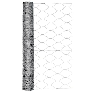 Blue Hawk Actual 50 Ft X 2 Ft Rolled Wire Galvanized Chicken Wire