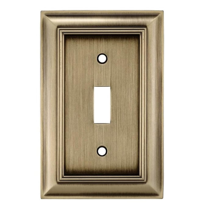 Allen Roth Cosgrove 1 Gang Antique Brass Single Toggle Wall Plate In The Wall Plates Department At Lowes Com