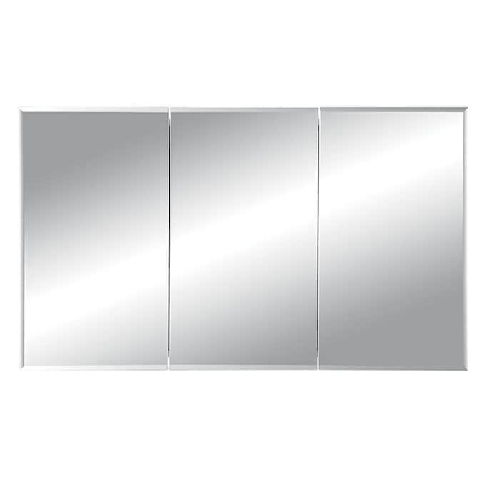 Jensen Horizon 48 In X 28 25 In Recessed Frameless Mirrored Rectangle Medicine Cabinet In The Medicine Cabinets Department At Lowes Com