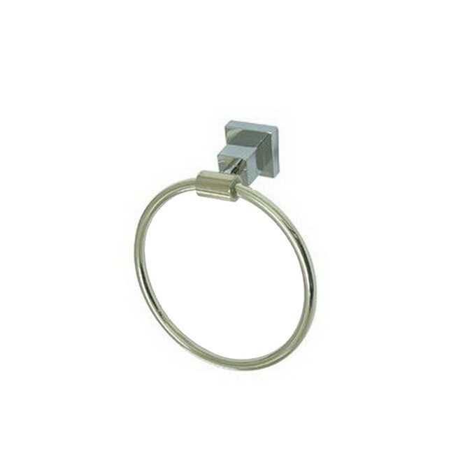Elements Of Design Claremont Polished Chrome Polished Brass Wall Mount Towel Ring In The Towel Rings Department At Lowes Com