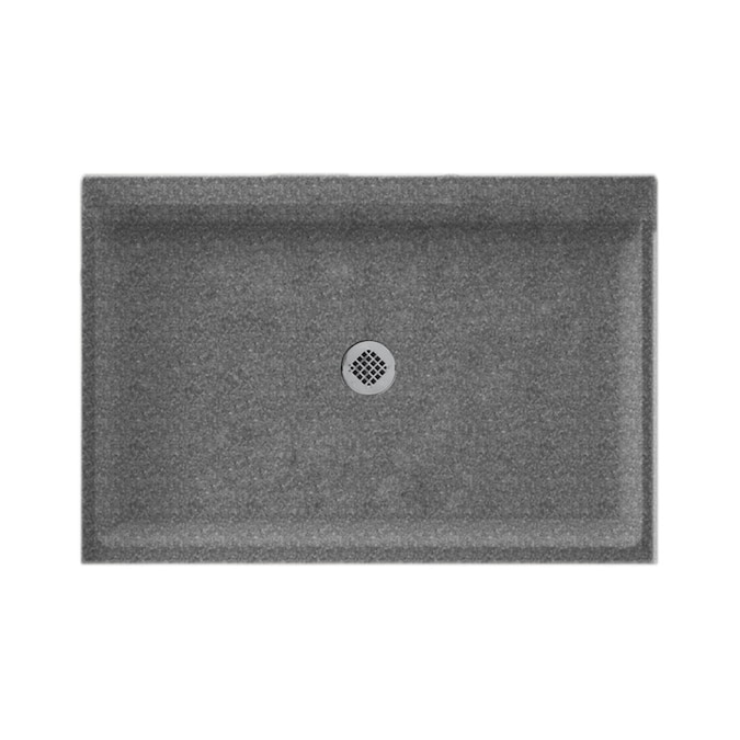 Swan Gray Granite Solid Surface Shower Base 34 In W X 60 In L With Center Drain In The Shower Bases Department At Lowes Com