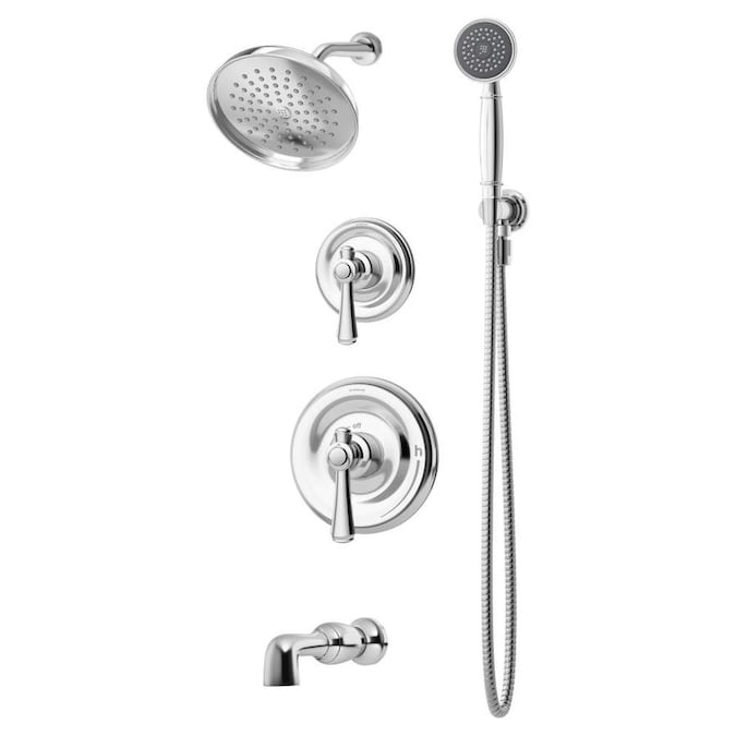 Symmons Degas Polished Chrome 2 Handle Bathtub And Shower Faucet In The Shower Faucets Department At Lowes Com