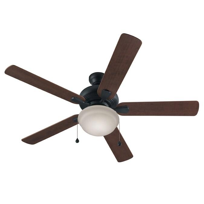 harbor breeze caratuk river bronze 52in led indoor ceiling fan 5blade
