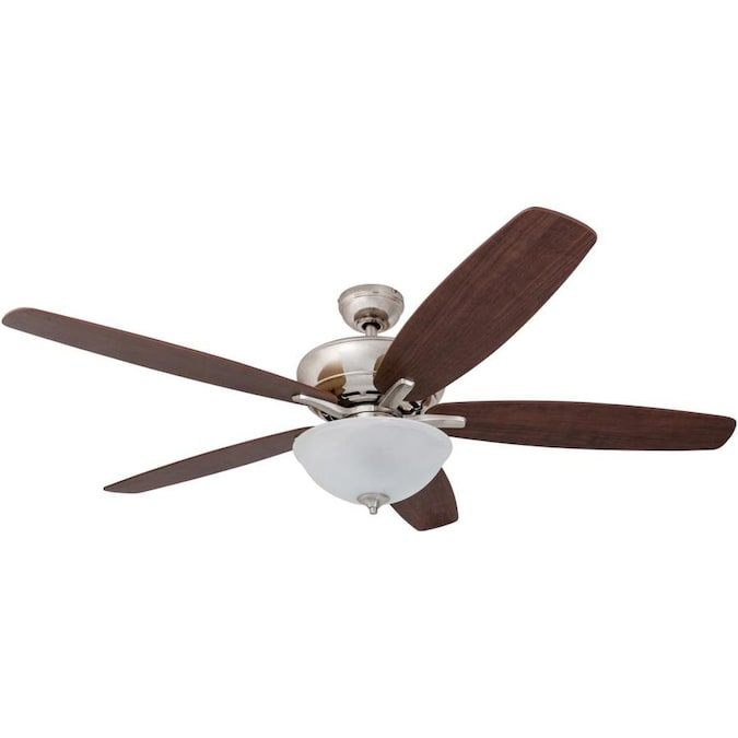 Harbor Breeze Aberly Cove Brushed Nickel 60 In Indoor Ceiling Fan 5 Blade In The Ceiling Fans Department At Lowes Com