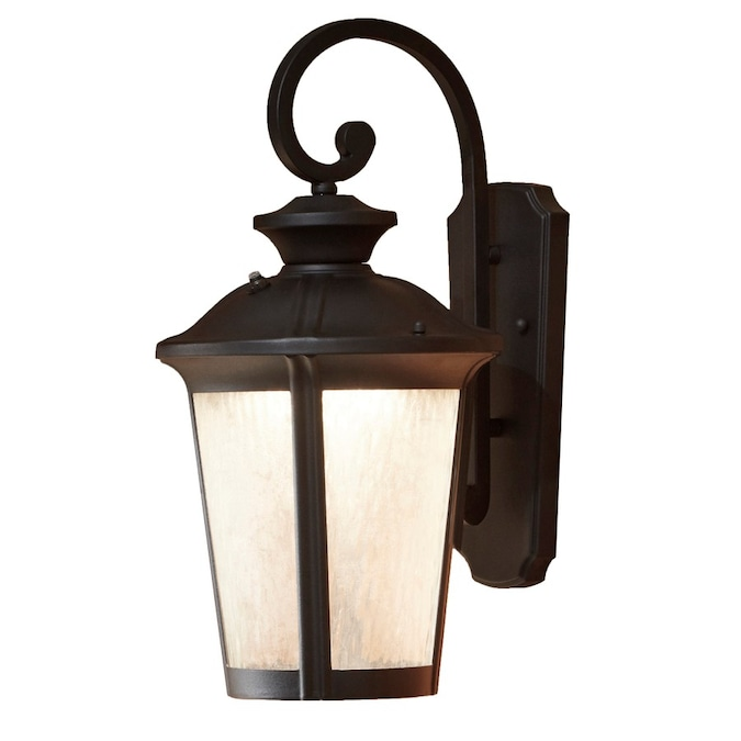 Allen Roth Dashwood 18 5 In H Black Led Outdoor Wall Light In The Outdoor Wall Lights Department At Lowes Com