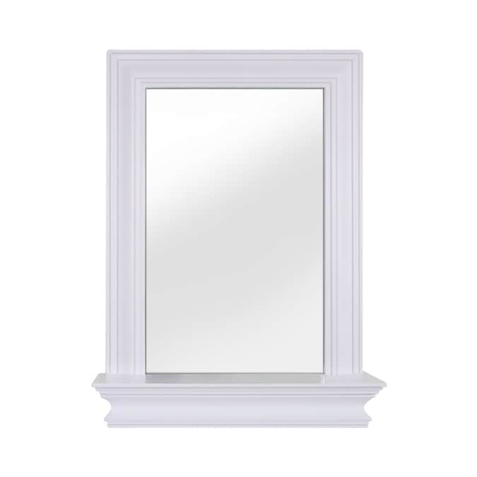 Elegant Home Fashions Stratford 18 In White Rectangular Bathroom Mirror In The Bathroom Mirrors Department At Lowes Com