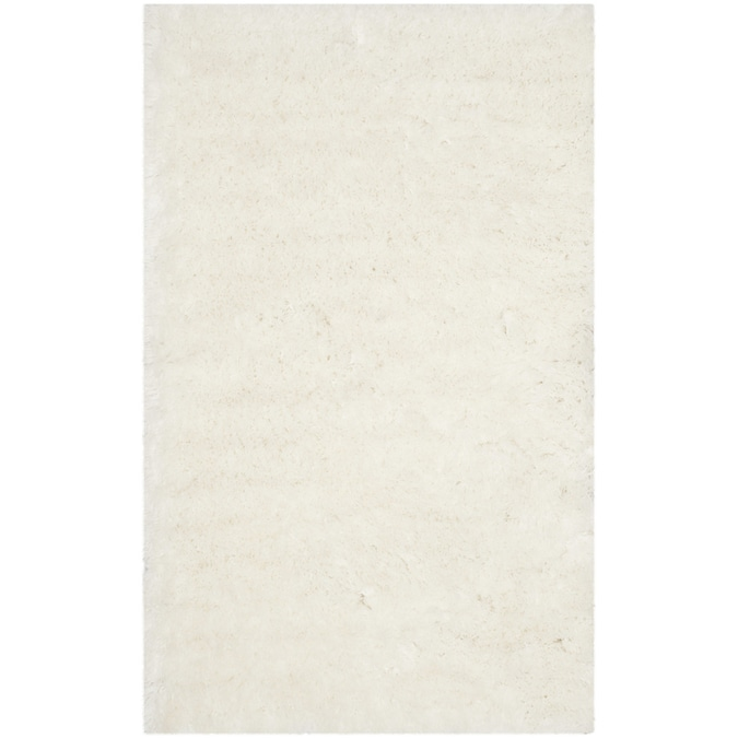 Safavieh Arctic Shag 5 X 7 Ivory Indoor Solid Handcrafted Area Rug In The Rugs Department At Lowes Com