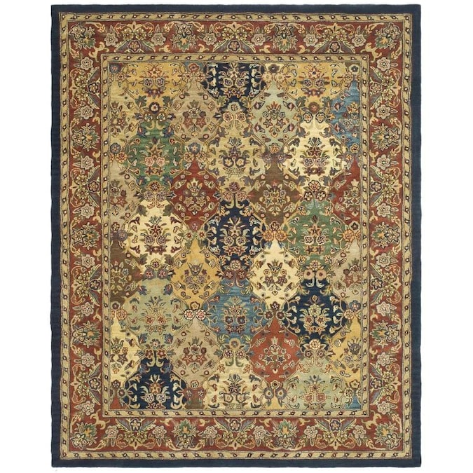 Safavieh Heritage Abaya 11 X 17 Multi Burgundy Indoor Floral Botanical Oriental Handcrafted Area Rug In The Rugs Department At Lowes Com