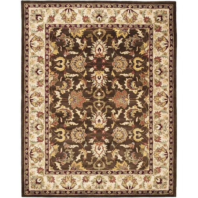 Safavieh Heritage Noida 8 X 10 Brown Beige Floral Botanical Oriental Handcrafted Area Rug In The Rugs Department At Lowes Com