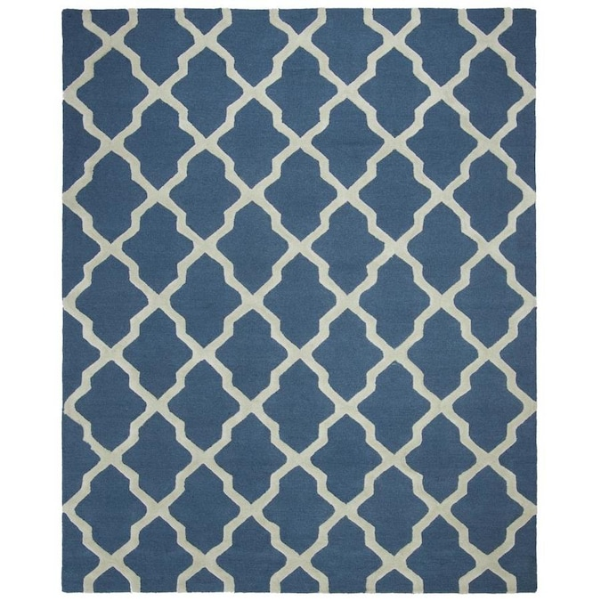 Safavieh Cambridge Mosaics 9 X 12 Navy Blue Ivory Indoor Trellis Handcrafted Area Rug In The Rugs Department At Lowes Com