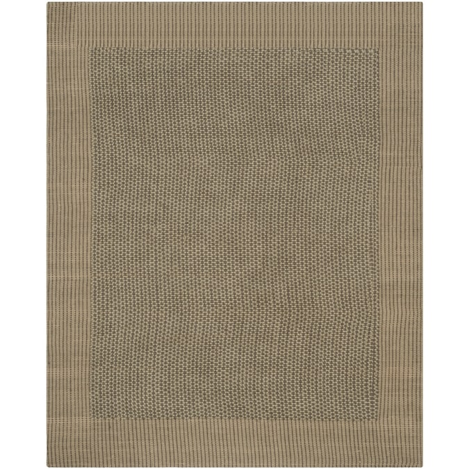 Safavieh Natural Fiber Macari 8 X 10 Charcoal Green Stripe Coastal Handcrafted Area Rug In The Rugs Department At Lowes Com