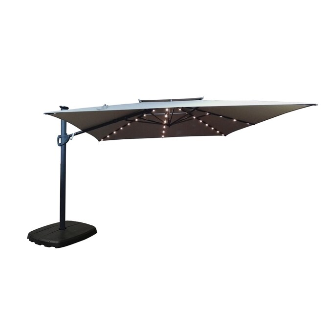 Simplyshade 10 Ft Greige Solar Powered, 10 Ft Cantilever Patio Umbrella