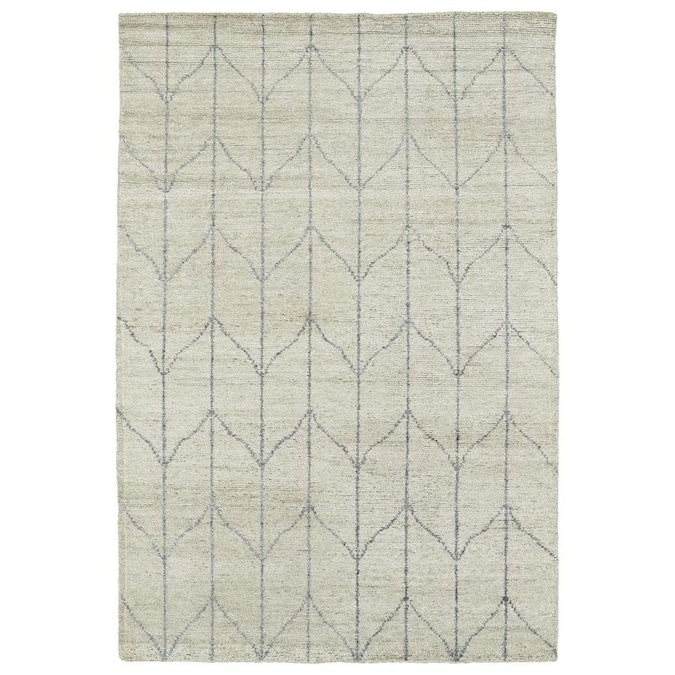 Kaleen Solitaire 4 X 6 Sand Indoor Geometric Lodge Handcrafted Area Rug In The Rugs Department At Lowes Com