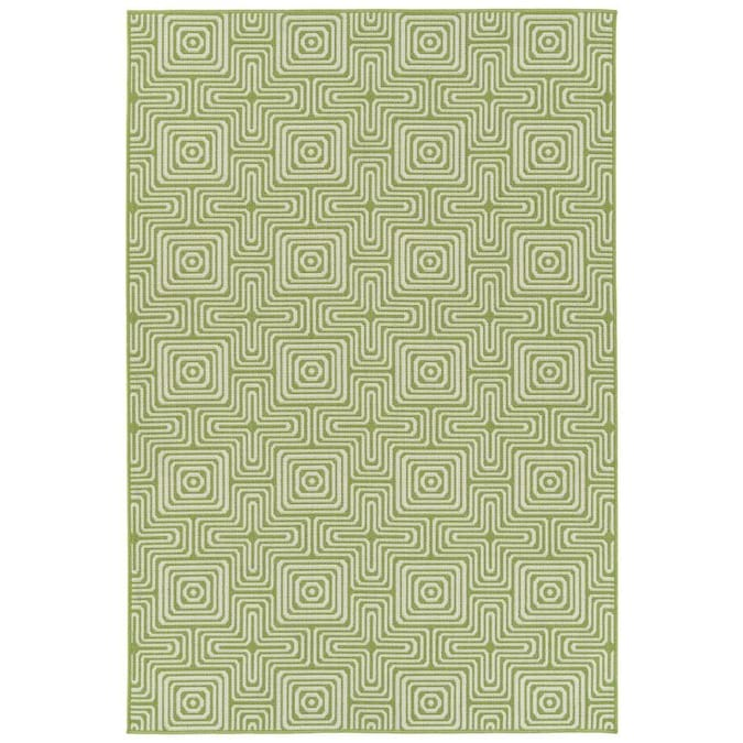 Kaleen Amalie 4 X 6 Lime Green Indoor Outdoor Geometric Coastal Area Rug In The Rugs Department At Lowes Com