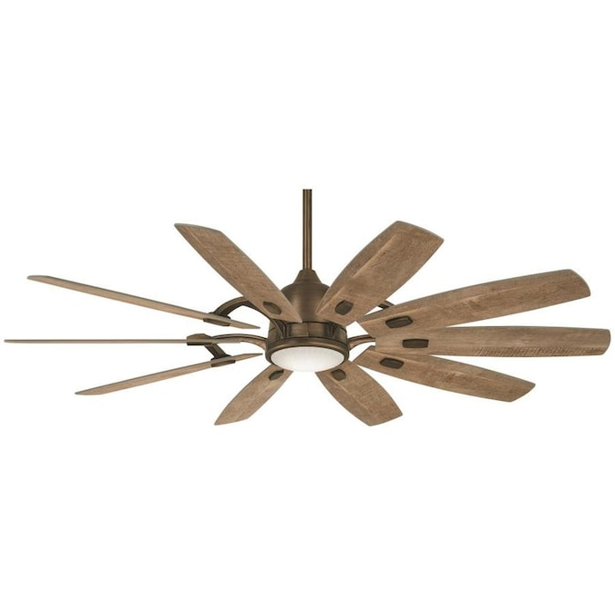 Minka Aire Barn Barnwood 65 In Led Indoor Smart Ceiling Fan 10 Blade In The Ceiling Fans Department At Lowes Com