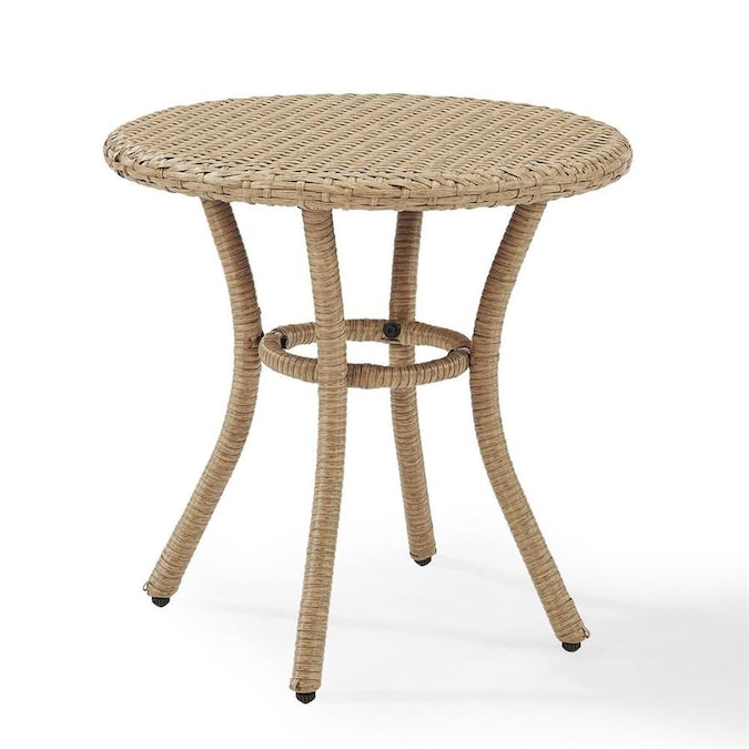 Crosley Furniture Palm Harbor Round Wicker Outdoor End Table 20 In W X 20 In L In The Patio Tables Department At Lowes Com