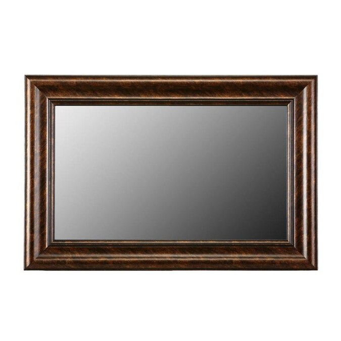 Gardner Glass Products 72 In W X 36 In H Bronze Mdf Traditional Mirror Frame Kit Hardware Included In The Mirror Frame Kits Department At Lowes Com