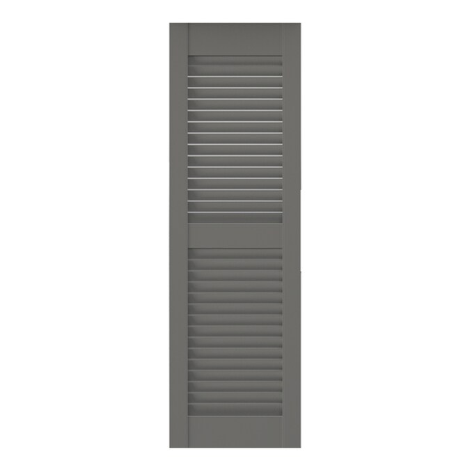 Southern Shutter 2 Pack 24 In W X 60 In H Primed Cedar Louvered Wood Exterior Shutters In The Exterior Shutters Department At Lowes Com