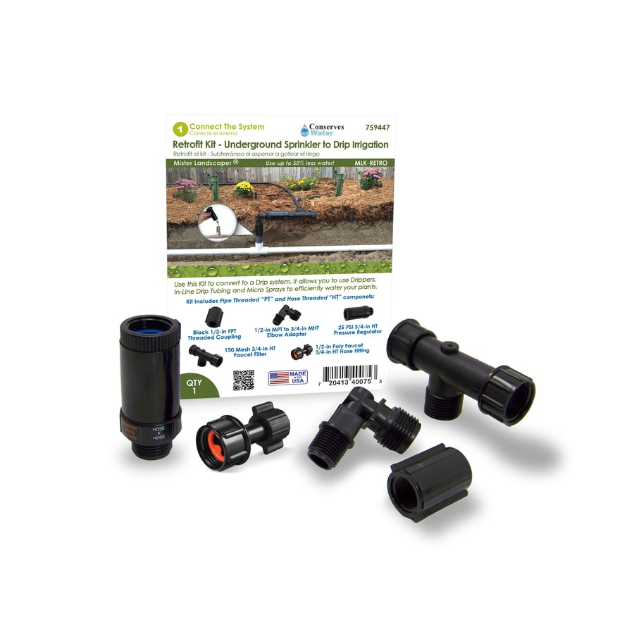 Mister Landscaper MLA-P2HTE 1//2 PVC to 3//4 Hose Tread Adapter Fitting