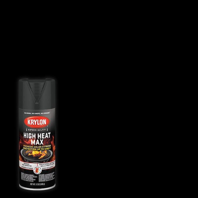 Krylon High Heat Satin Black Spray Paint Net Wt 12 Oz In The Spray Paint Department At Lowes Com