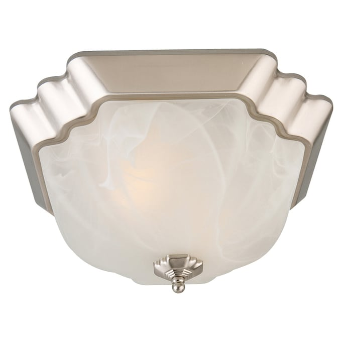 Portfolio 13 In Brushed Nickel Traditional Flush Mount Light In The Flush Mount Lighting Department At Lowes Com