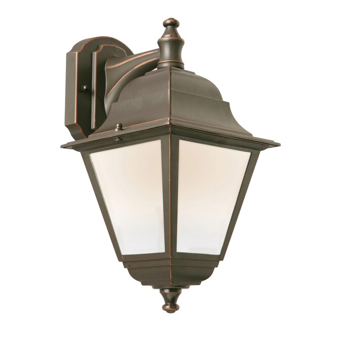 Portfolio 14 In H Oil Rubbed Bronze Led Outdoor Wall Light Energy Star In The Outdoor Wall Lights Department At Lowes Com