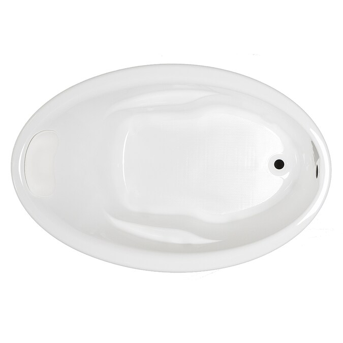Kohler Sunward 42 In W X 60 In L White Acrylic Oval Reversible Drain Drop In Soaking Bathtub In The Bathtubs Department At Lowes Com