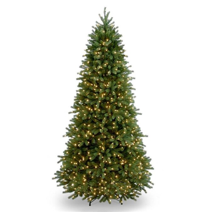 National Tree Company 6 5 Ft Frasier Fir Pre Lit Slim Artificial Christmas Tree With 700 Constant White Clear Incandescent Lights In The Artificial Christmas Trees Department At Lowes Com