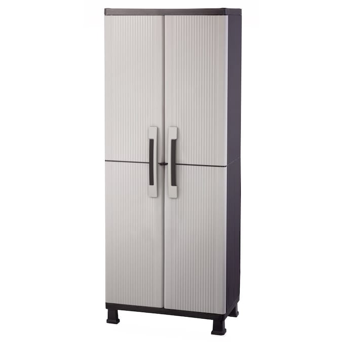 Keter 25 In W X 72 In H X 17 In D Plastic Freestanding Garage Cabinet In The Garage Cabinets Department At Lowes Com
