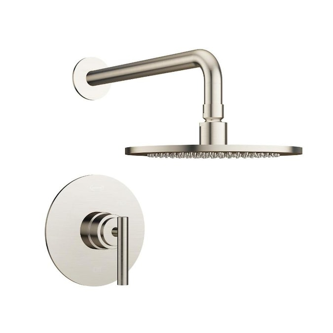Jacuzzi Salone Brushed Nickel 1 Handle Shower Faucet With Valve In The Shower Faucets Department At Lowes Com