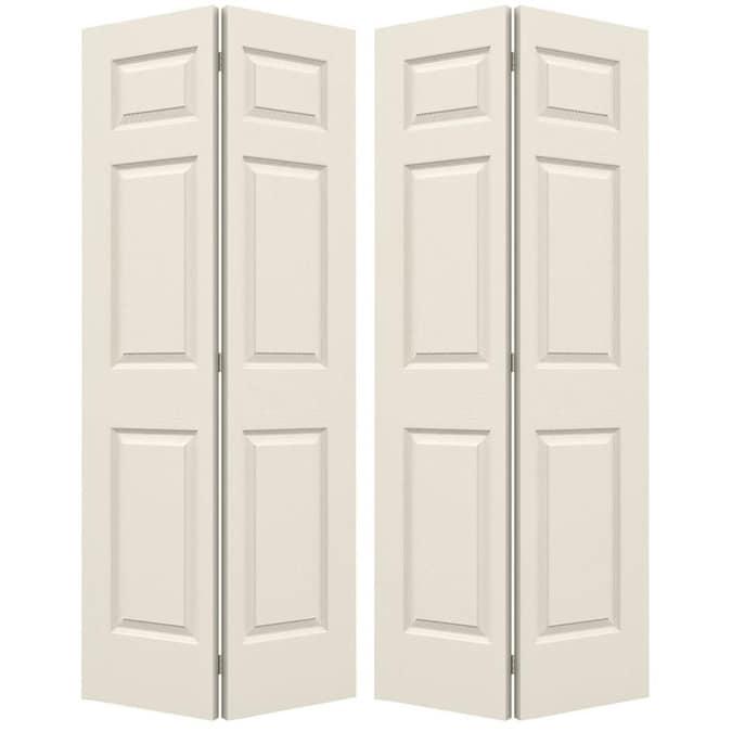 Jeld Wen Colonist 60 In X 80 In Primed 6 Panel Primed Molded Composite Bifold Door Hardware Included In The Closet Doors Department At Lowes Com