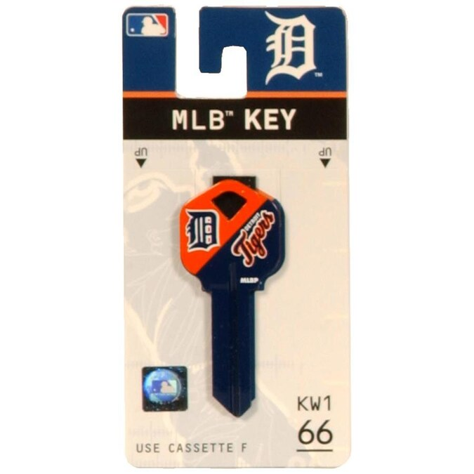 Fanatix Detroit Tigers Painted Team Colors Brass House Entry Key Blank In The Key Blanks Department At Lowes Com
